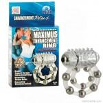 Maximus dupla hurkos, gyöngyös, vibrátoros péniszgyűrű