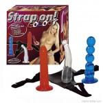 Strap on! színes felcsatolható dildó szett