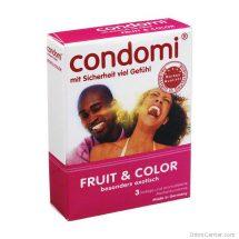 Condomi fruit & color 3 db-os óvszer többfajta ízesítéssel