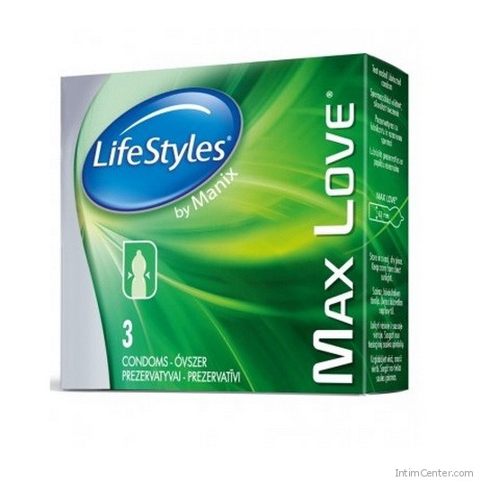 Késleltető hatású óvszer, LifeStyles Max Love 3 db