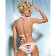 Kalia szett, erotikus fehér alsó és melltartó