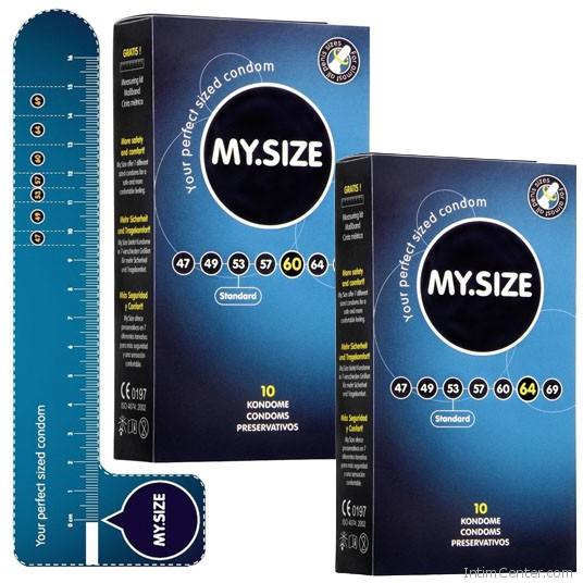 MySize 10 darabos kondom csomag, a méretes óvszer a tökéletes