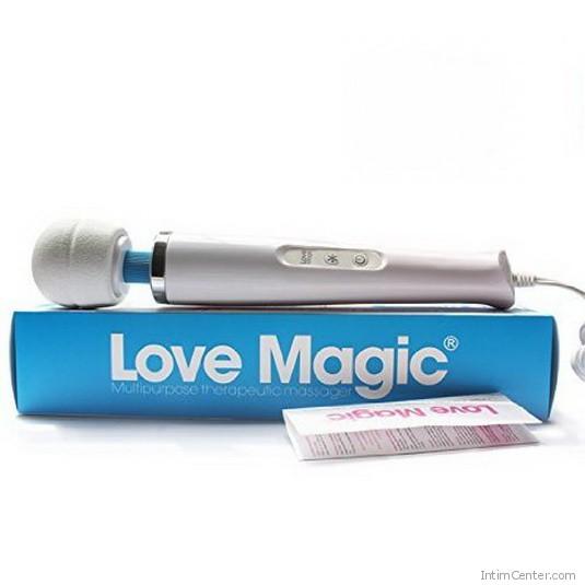 Masszírozó vibrátor szilikon fejjel, Love Magic 220 V