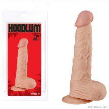 Realisztikus dildó, letapasztható 23 cm-es Hoodlum