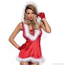 Szexi mikuláslány ruha, szexi jelmez karácsonyra L/XL méretben