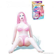 Szexbaba 3D arcú, távirányítós tojás vibrátorral Pamela Pink Power guminő