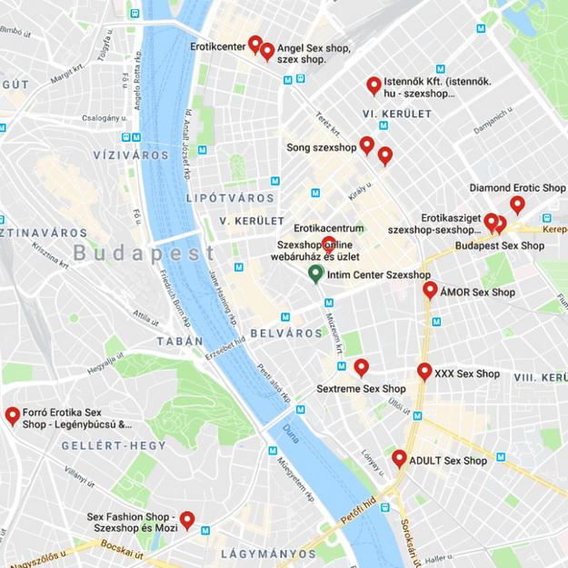 Szexbolt üzletek és online szexshopok Budapesten