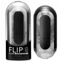 Vibrátoros maszturbátor férfiaknak, Tenga Black Flip 0-Zero electronic stimulation